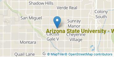 Location of Arizona State University - West