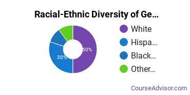 Racial-Ethnic Diversity of General Visual & Performing Arts Majors at Arizona State University - West
