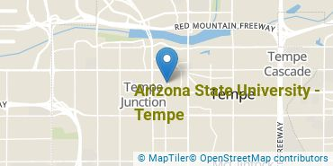 Location of Arizona State University - Tempe