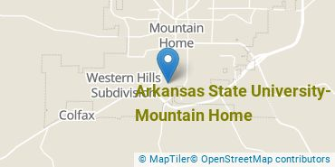 Location of Arkansas State University - Mountain Home
