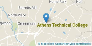 Location of Athens Technical College