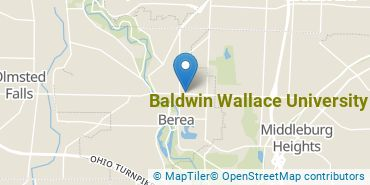 Location of Baldwin Wallace University