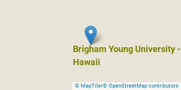Location of Brigham Young University - Hawaii