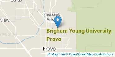 Location of Brigham Young University - Provo