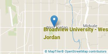 Location of Broadview University - West Jordan
