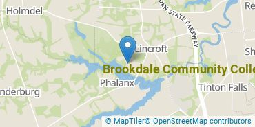 Location of Brookdale Community College