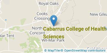 Location of Cabarrus College of Health Sciences