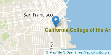 Location of California College of the Arts