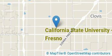 Location of California State University - Fresno