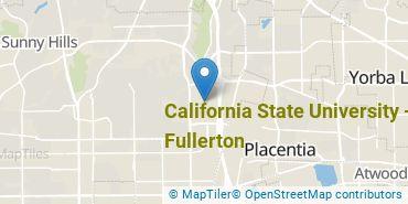 Location of California State University - Fullerton