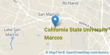 Location of California State University - San Marcos
