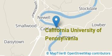 Location of California University of Pennsylvania