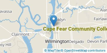 Location of Cape Fear Community College