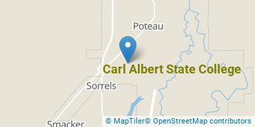 Location of Carl Albert State College