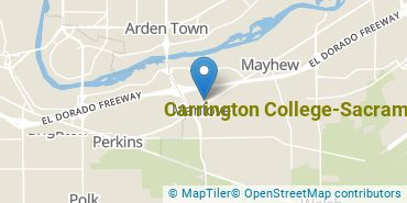 Location of Carrington College, Sacramento