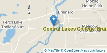 Location of Central Lakes College - Brainerd
