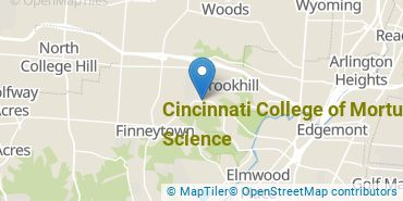 Location of Cincinnati College of Mortuary Science