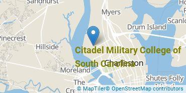 Location of Citadel Military College of South Carolina