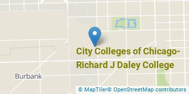 Location of City Colleges of Chicago - Richard J Daley College