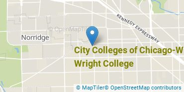 Location of City Colleges of Chicago - Wilbur Wright College