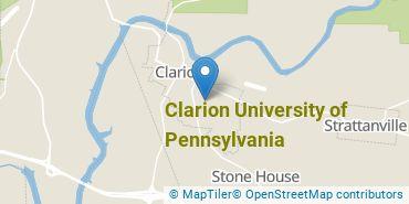 Location of Clarion University of Pennsylvania