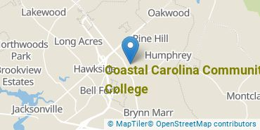 Location of Coastal Carolina Community College
