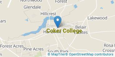 Location of Coker College