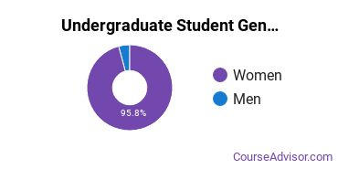 Undergraduate Student Gender Diversity at  College of Massage Therapy