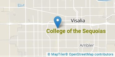 Location of College of the Sequoias
