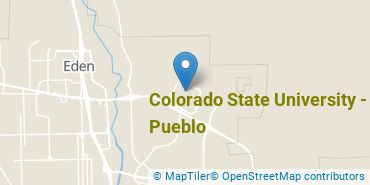 Location of Colorado State University - Pueblo