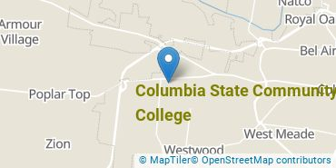Location of Columbia State Community College