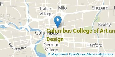 Location of Columbus College of Art and Design