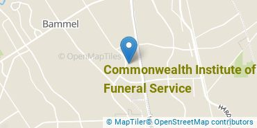 Location of Commonwealth Institute of Funeral Service