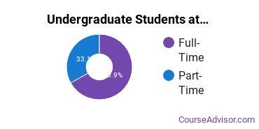 Full-Time vs. Part-Time Undergraduate Students at  Concordia University, Saint Paul