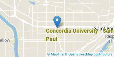 Location of Concordia University, Saint Paul