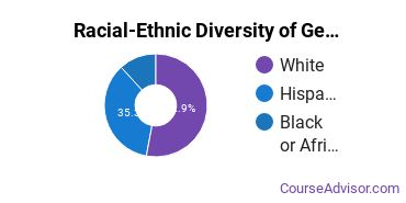 Racial-Ethnic Diversity of General Business/Commerce Majors at Concordia University - Texas