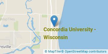 Location of Concordia University, Wisconsin