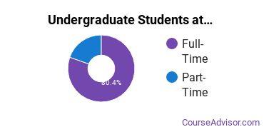 Full-Time vs. Part-Time Undergraduate Students at  Dakota Wesleyan University