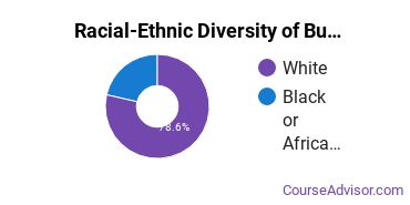 Racial-Ethnic Diversity of Business Support & Assistant Services Majors at Danville Community College