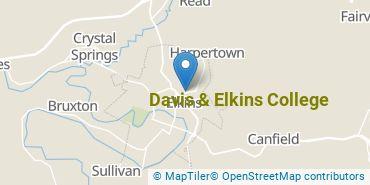 Location of Davis & Elkins College