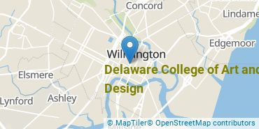 Location of Delaware College of Art and Design
