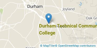 Location of Durham Technical Community College