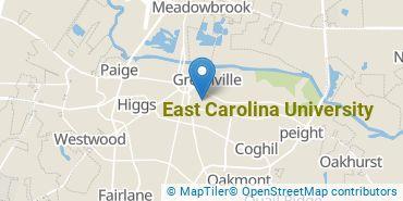 Location of East Carolina University