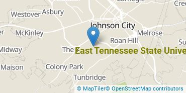 Location of East Tennessee State University