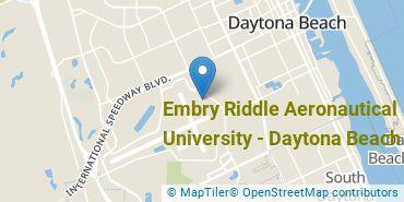 Location of Embry-Riddle Aeronautical University - Daytona Beach
