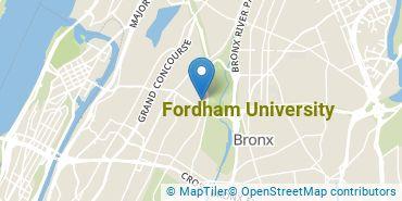 Location of Fordham University