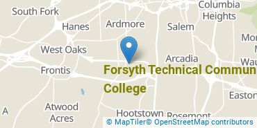 Location of Forsyth Technical Community College