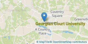 Location of Georgian Court University