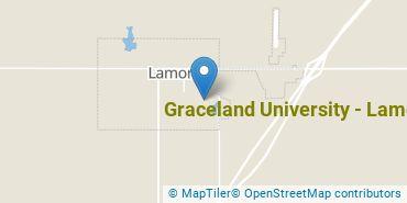 Location of Graceland University - Lamoni