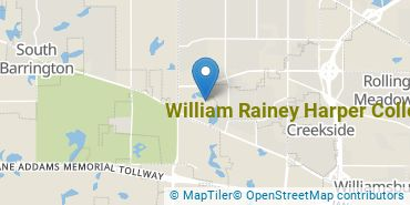 Location of William Rainey Harper College